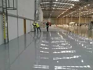 Flowable Resin Screed Installation