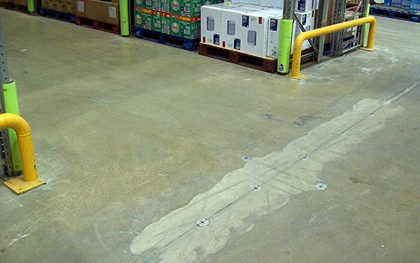 Concrete Floor Joint Repaired With Joint Stabilizer