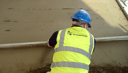 sand cement screed installation