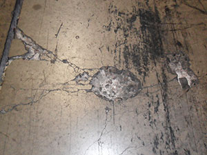 floor requiring patch repair