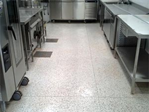 Decorative Resin Floor Finish in Staff Canteen