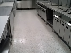 Decorative Resin Floor Finish in Commercial Kitchen (Canteen)