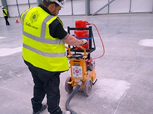 Grinding a Warehouse Floor for ASRS Automation